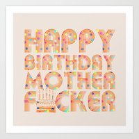 happy birthday Art Prints featuring Happy Birthday by Vickn