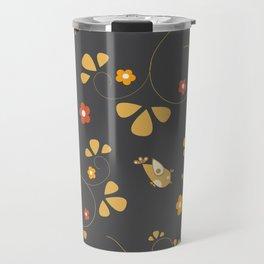 Seamless Bird Pattern. Modern Style. Travel Mug