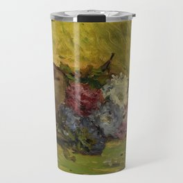 """Paul Gauguin """"Reine-marguerites, chapeau et livre"""" Travel Mug"""