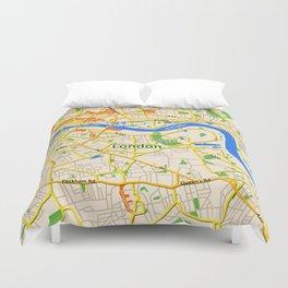 London Map design Duvet Cover