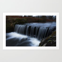 Waterfall in the park Art Print