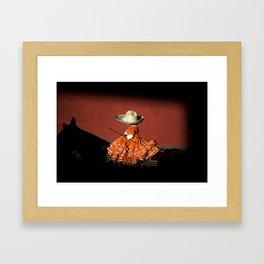 Rider girl portrait Framed Art Print