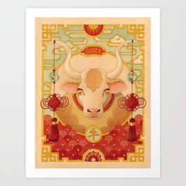 Year of the Ox Art Print