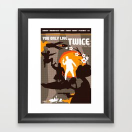 James Bond Golden Era Series :: You Only Live Twice Framed Art Print