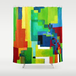 August Macke Colored Forms II Shower Curtain