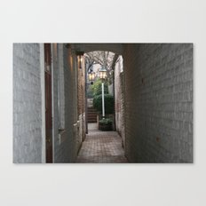 A lovely alley in Fredericksburg, VA Canvas Print