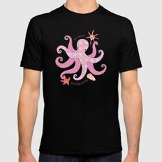 Octopatch MEDIUM Black Mens Fitted Tee