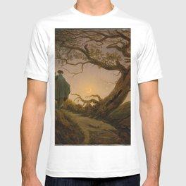 Caspar David Friedrich - Two Men Contemplating the Moon.jpg T-shirt