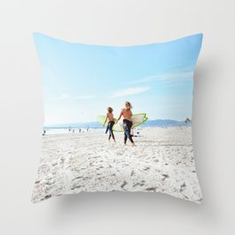 Surfin' USA Throw Pillow