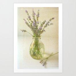 Lavender and Milk Art Print