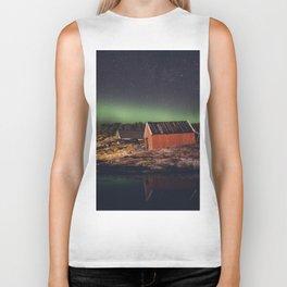 Aurora in the sky Biker Tank