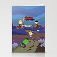 avenger Stationery Cards featuring Avenger Time! by Det Guiamoy