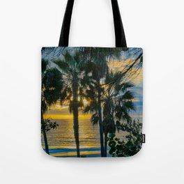 Laguna Sunset Palms Tote Bag