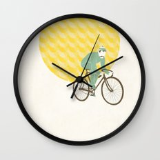 Stache with Sunrise Wall Clock