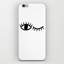 Eyes with Eyelashes Winking iPhone Skin