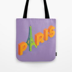 a is for eiffel Tote Bag