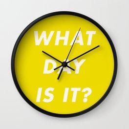 What Day Is It? Wall Clock