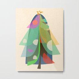 Festivity Tree Metal Print