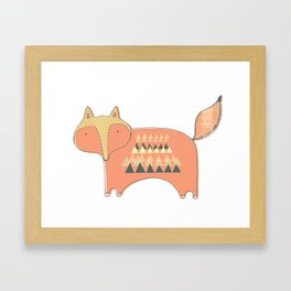 Fox Print Framed Art Print