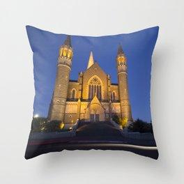 Sacred Heart Cathedral Bendigo Throw Pillow