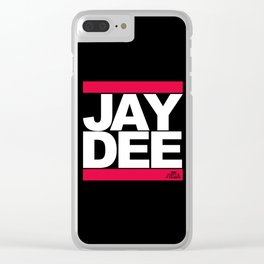 JAY DEE aka JDILLA (RUNDMC tribute) Clear iPhone Case