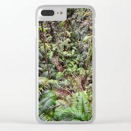 Rainforest Jungle Clear iPhone Case