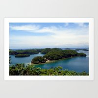 philippines Art Prints featuring Hundred Islands, Philippines 01 by berrygoochampagne