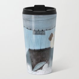 barney and the whale Travel Mug