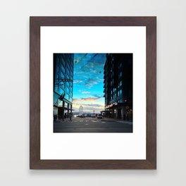 Seattle Summer Sunset Framed Art Print