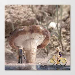 Shiitake Shelter Canvas Print