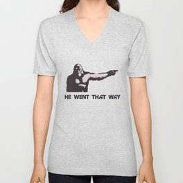 He Went That Way Unisex V-Neck