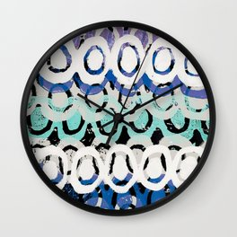 Folk Pattern Relief  Wall Clock