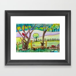 A cute landscape Framed Art Print
