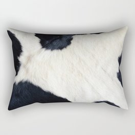 Cowhide Black and White Rectangular Pillow