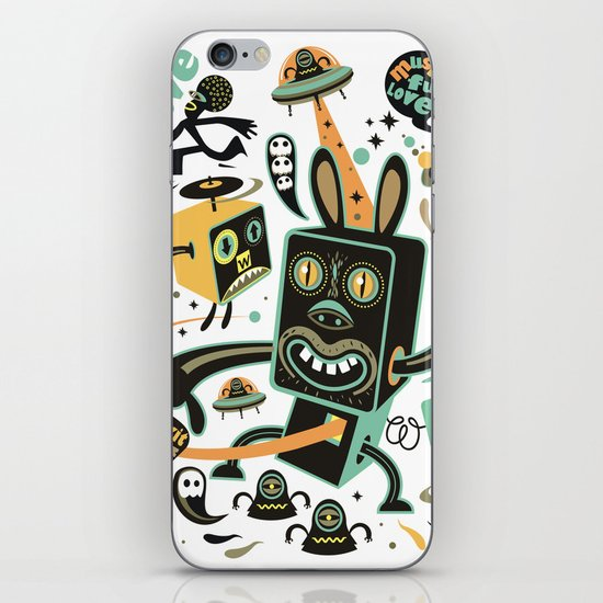 Little Black Magic Rabbit iPhone & iPod Skin