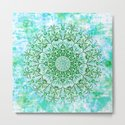 Ocean Aqua Blue Watercolor Mandala , Relaxation & Meditation Turquoise Flower Circle Pattern by limolida