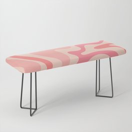 Liquid Swirl Abstract in Soft Pink Bench