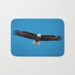 Bald eagle soars near Itasca Bath Mat