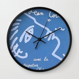 Jean Cocteau Exhibition Poster Wall Clock