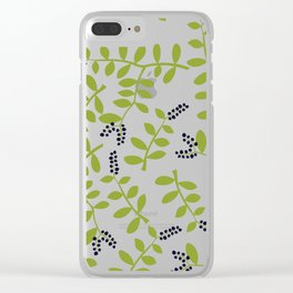 Blueberry Patch Clear iPhone Case