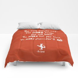 dr seuss the more that you read Comforters