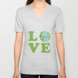 Love Earth Day Unisex V-Neck
