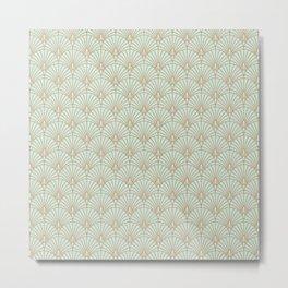 Art Deco fan pattern Metal Print