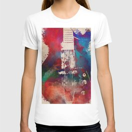 guitar art 6 #guitar #music T-shirt