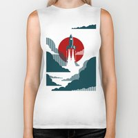 i love you to the moon and back Biker Tanks featuring The Voyage by Danny Haas