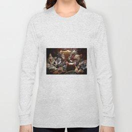 Cats play poker Long Sleeve T-shirt