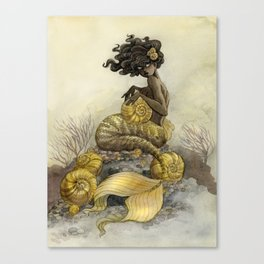 Sea Snail Mermaid Canvas Print