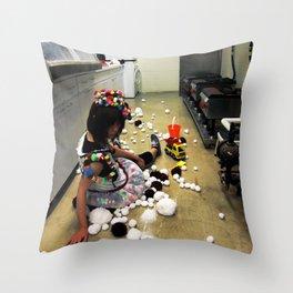 Play Ground Throw Pillow