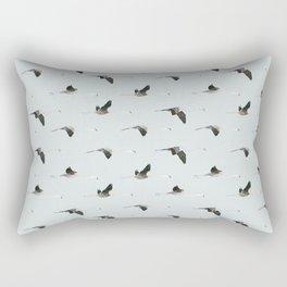 Flamingos collab. with @rodrigomffonseca Rectangular Pillow