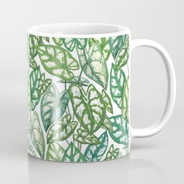 Green tropical leaves IV Coffee Mug